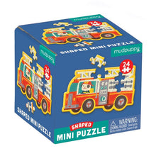Load image into Gallery viewer, Firetruck Shaped Mini Puzzle 24pc
