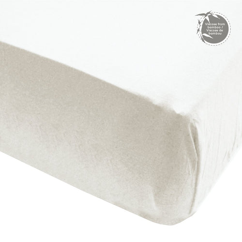 Perlimpinpin Fitted Crib Sheet- Ivory