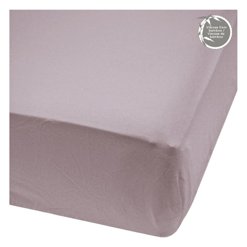 Perlimpinpin Fitted Crib Sheet- Plum
