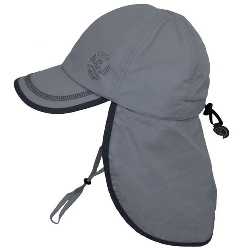 Calikids UV Flap Hat- Harbour Grey