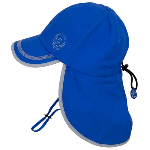 Calikids UV Flap Hat- Royal Blue