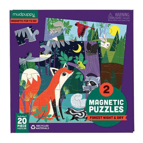 Forest Night & Day Magnetic Puzzles 20pc