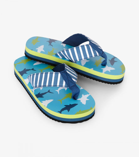 Hatley Great White Sharks Flip Flops