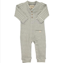 Load image into Gallery viewer, Me & Henry Grey Stripe Jersey Romper