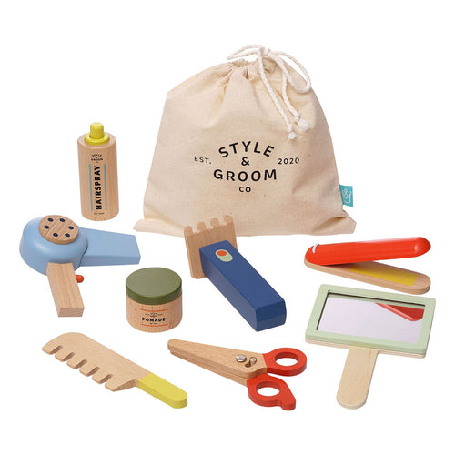 Style & Groom Wooden Hairstyling Set