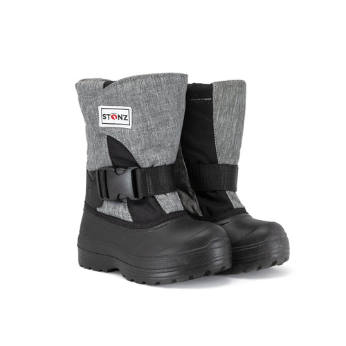 Stonz Winter Boots- Trek Heather Grey/Black