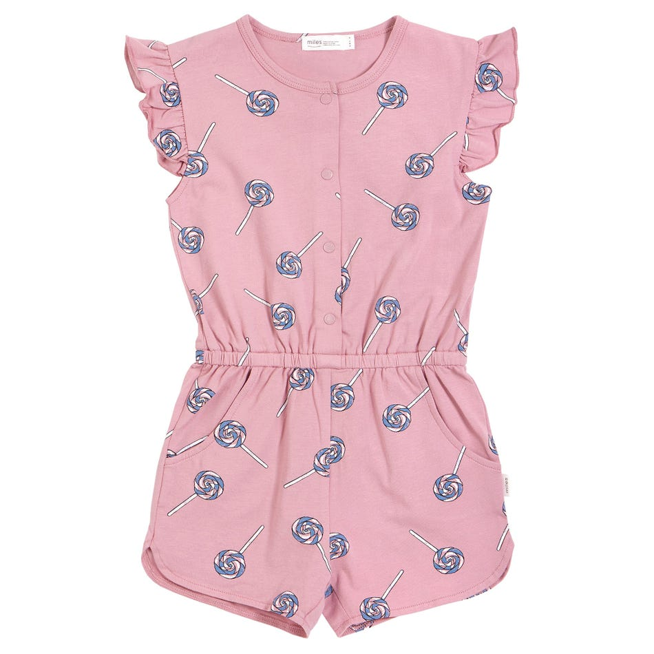 Miles Baby Pink Lolly Romper