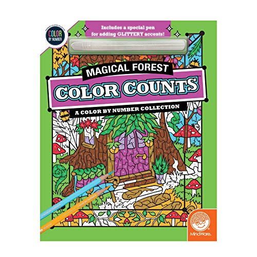 Magical Forest Colour by Number Book
