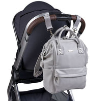 Load image into Gallery viewer, Bababing Mani Backpack Diaper Bag - Dove Grey