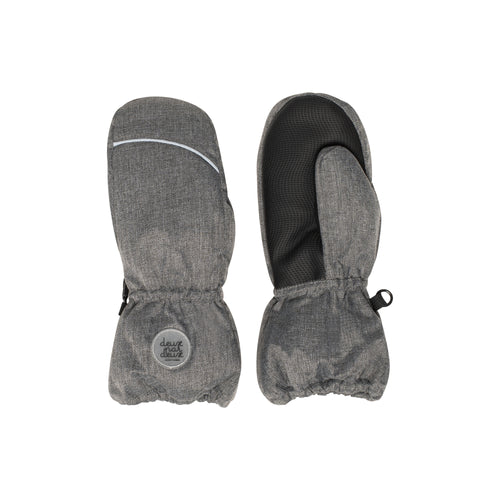 Deux Par Deux Winter Mittens- Med. Grey