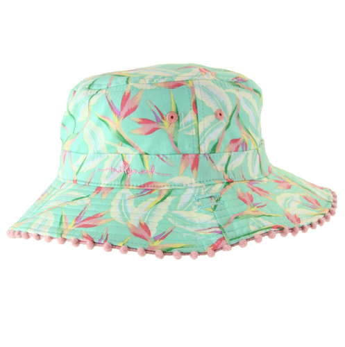 Millymook Baby Girls Bucket Hat- Mint Paradise 0-12m
