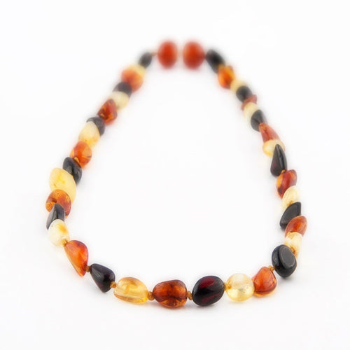 Amber Teething Necklace- Multi Bean