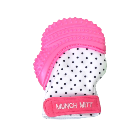 Munch Mitt Pink Dots