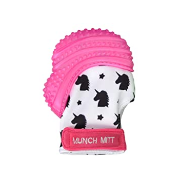 Munch Mitt Pink Unicorns