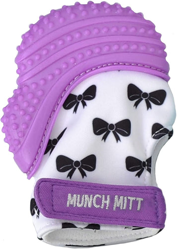 Munch Mitt Purple Bows