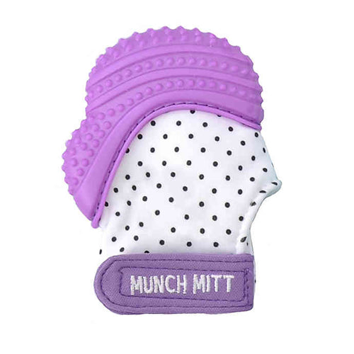 Munch Mitt Purple Dots