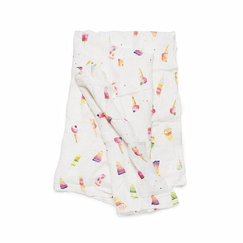 LouLou Lollipop Muslin Swaddle- Ice Cream Social