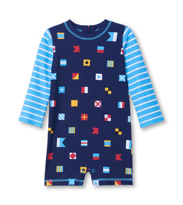 Hatley Nautical Flags Baby Rashguard One-Piece