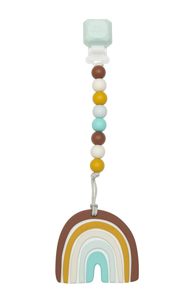 Loulou Lollipop Neutral Rainbow Teether Set