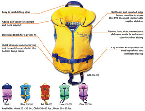 Salus Nimbus Child Lifejacket 30-60lbs