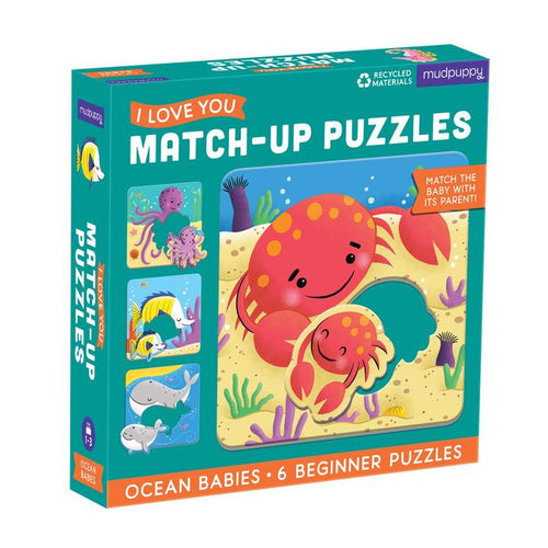 I Love You Match-Up Puzzle- Ocean Babies