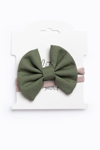 Olive Mini Ella Bow Headband