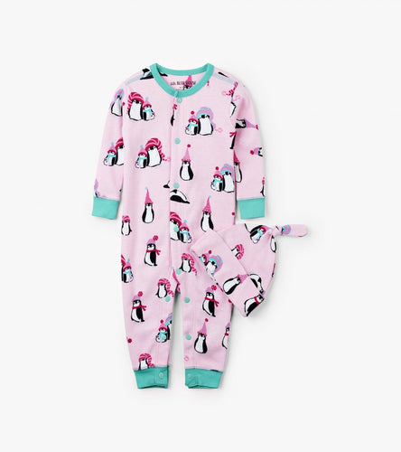 LBH Pink Penguins Coverall with Cap