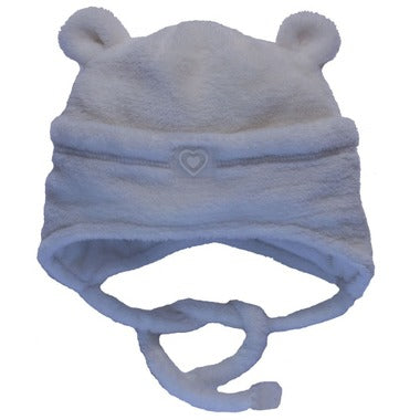 Calikids Plush Bear Hat with Ties