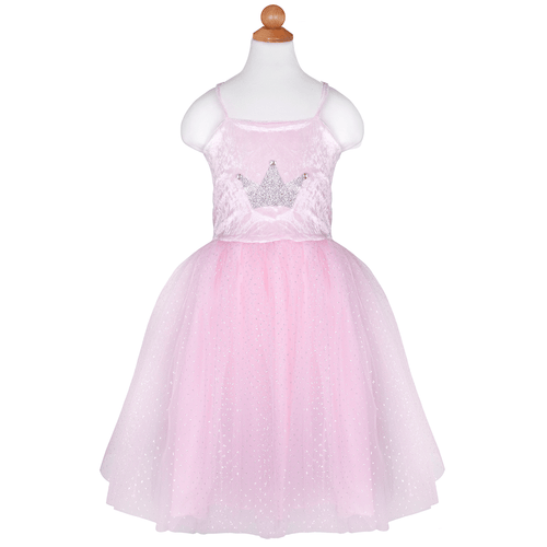 Pretty Pink Dress and Silver Tiara Set