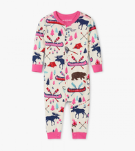 Load image into Gallery viewer, LBH Pretty Sketch Country Union Suit - 12-18m