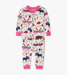 LBH Pretty Sketch Country Union Suit - 12-18m