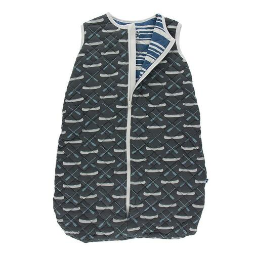 Kickee Pants Quilted Sleeping Bag- Stone Paddles and Canoe/Stripe
