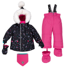 Load image into Gallery viewer, Deux Par Deux Rainbow Club 2pc. Snowsuit