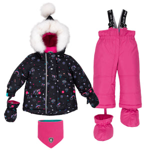 Deux Par Deux Rainbow Club 2pc. Snowsuit