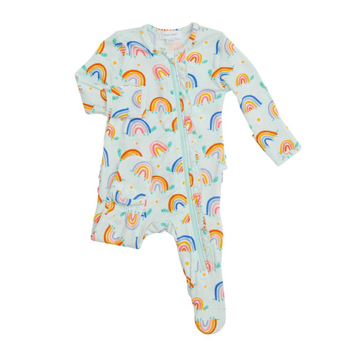 Angel Dear Rainbow Turtles Zipper Footie NB