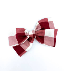 Red Buffalo Plaid Oversized Quincey Clip