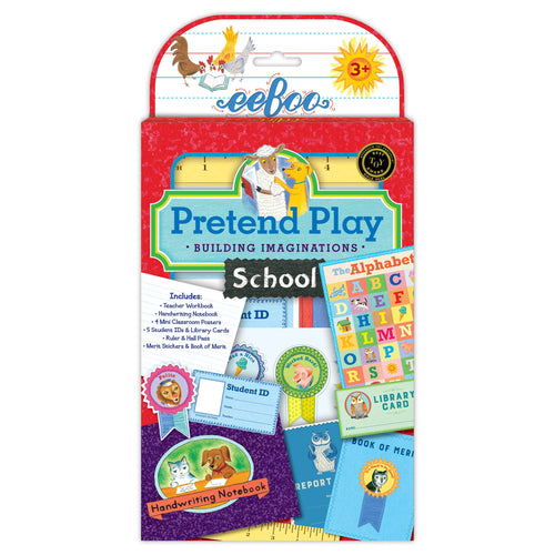 School Pretend Play Activity Set