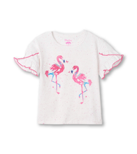 Load image into Gallery viewer, Hatley Fancy Flamingos Flutter Tee