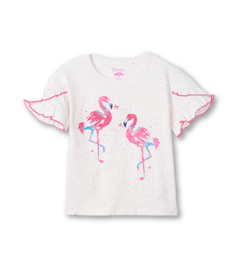 Hatley Fancy Flamingos Flutter Tee