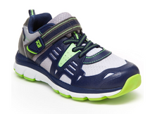 Load image into Gallery viewer, Stride Rite Ashton Navy/Lime Kids Shoe