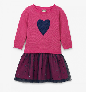Hatley Pink Shimmer Heart Dress