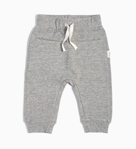 Miles Baby Heather Grey Jogger Pant