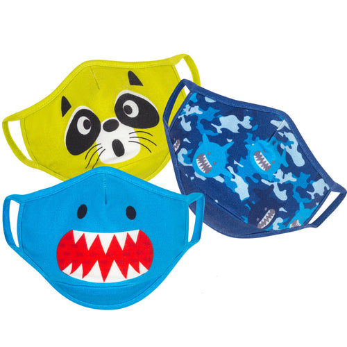 Zoocchini Organic Reusable Face Mask 3pk- Shark