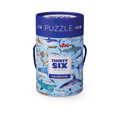 36 Sharks 100pc Tube Puzzle