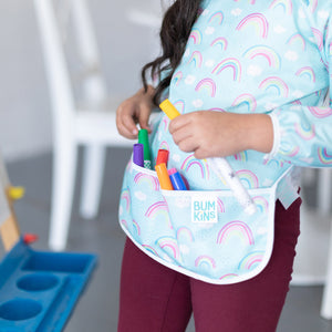 Bumkins Long-Sleeved Smock- Rainbow