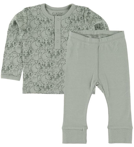 Fixoni Sage Squirrel LS Tee & Pant Set