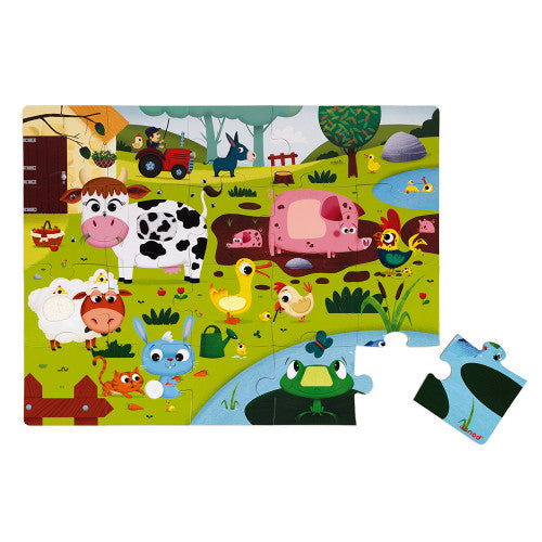 Janod Tactile Puzzle - Farm Animals