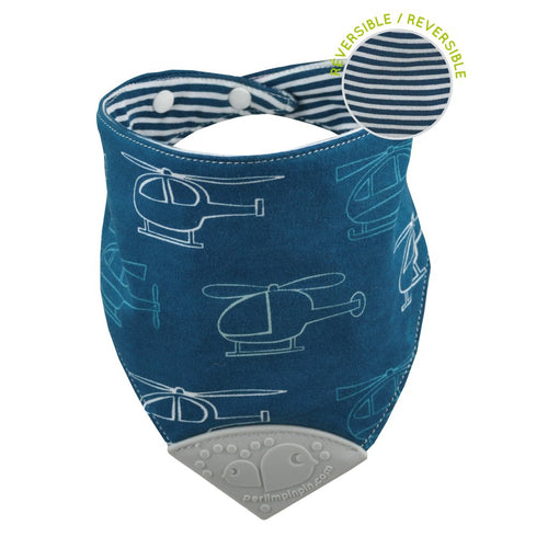 Perlimpinpin Teething Bib- Helicopter