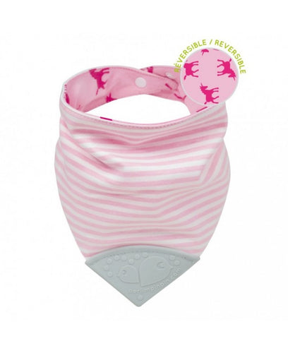 Perlimpinpin Teething Bib- Unicorns