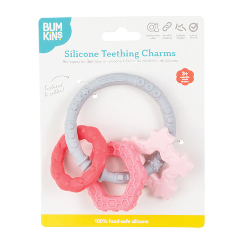 Bumkins Silicone Teething Charms- Pink